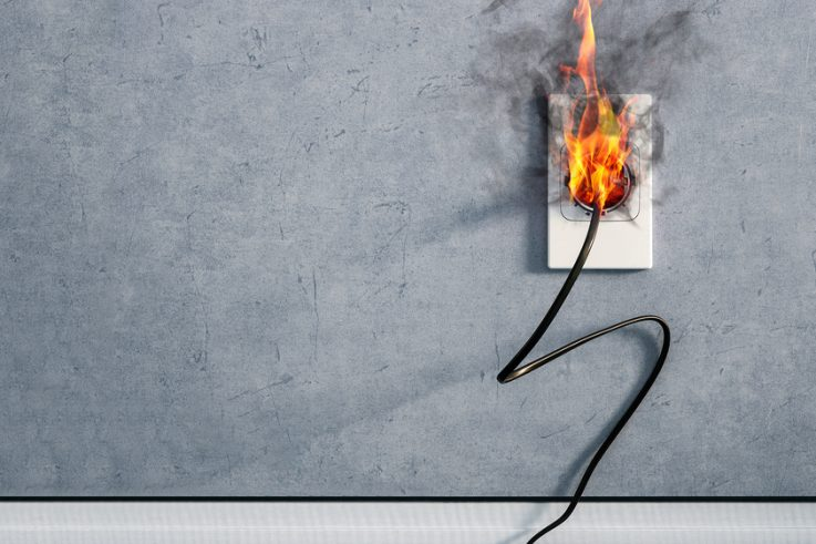 Electrical Socket on Fire 4